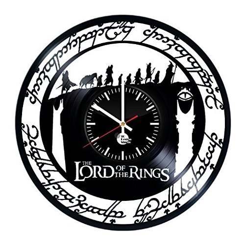 Lord of the Rings HANDMADE Vinyl Record Wall Clock - Get unique room home decor - Gift ideas for men, boys and girls - Unique Adventure Film Art Design - Leave us a feedback and win your custom clock