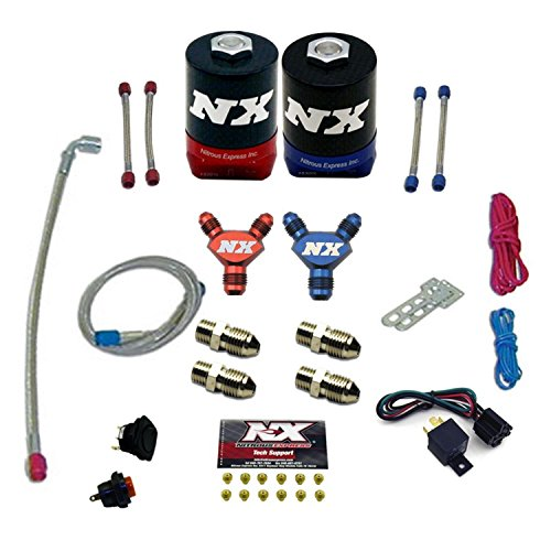 Mustang Nitrous Systems (Nitrous Express NX200 50-300 WHP Dual Stage Plate Conversion Kit for Ford 5.0L)