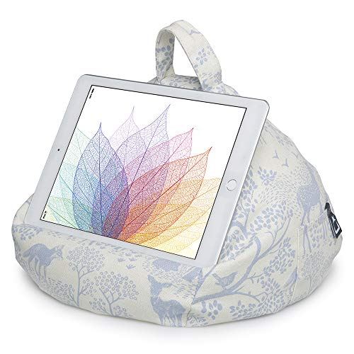 iPad Pillow & Tablet Stand - Securely Holds Any Size Tablet, eReader or Book Upto 12.9 inches, Hands Free Comfort at Any Angle on Any Surface - Woodland, by iBeani