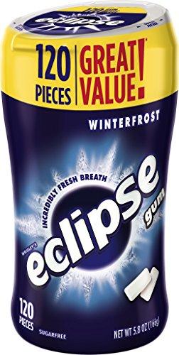 Eclipse Winterfrost Sugarfree Chewing Gum, 120 Piece Bottle