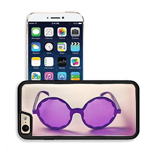 [Luxlady Premium Apple iPhone 6 Plus iPhone 6S Plus Aluminum Backplate Bumper Snap Case IMAGE ID: 34009416 Funky purple sixties hippy sunglasses with shadows] (60s Dress Up Costumes)