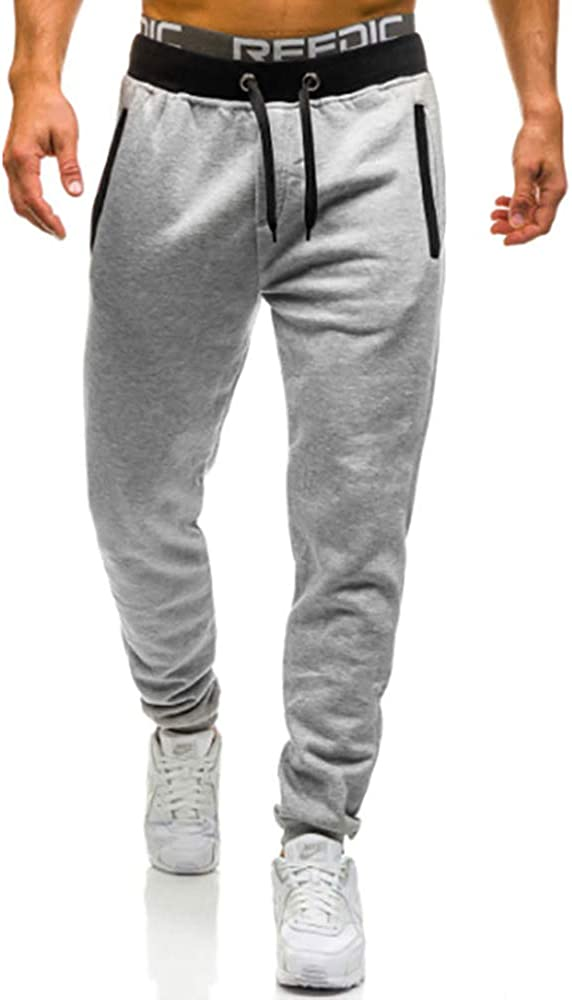 OSYS THX Mens Running Pants for Athletic Joggers Workout Sweatpants with Zipper Pockets