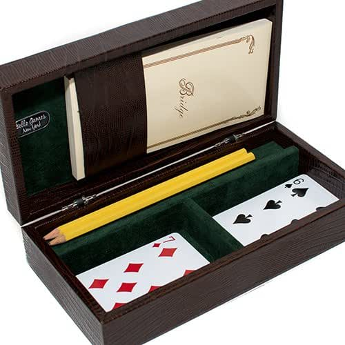 Bello Games Collezioni - Via Rizoli Luxury Card Set in Genuine Lizard from Italy