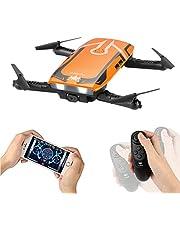 HELIFAR Drone con cámara HD, H818 RC Plegable Mini Drone WiFi FPV Drone 720P HD Juguete Quadcopter 6 Ejes Gyro Altitud Hold RC Quadcopter RTF , Regalos de para Niños, Adultos