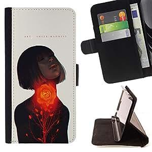 """For Sony Xperia Z5 Compact Z5 Mini (Not for Normal Z5),S-type Pasión Mujer Cita del amor de la primavera"""" - Dibujo PU billetera de cuero Funda Case Caso de la piel de la bolsa protectora"""