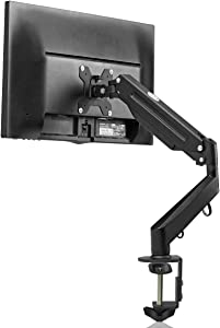 suptek Fully Adjustable Gas Spring Monitor Mount Fits 17 20 22 23 24 26 27 inch Monitors Weight Capacity up to 13.2 lbs