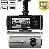 AUDEW Car Cameras Recorder DVR HD Vehicle Dash Cam Video G-sensor GPS Dual Lens 2.7 Inch