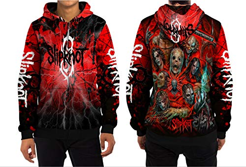 Demonic Slipknot Hip Metal Rock Band All Over Sublimation Print (XX-Large, Zipper Hoodie) ()