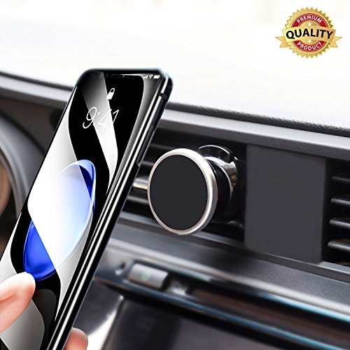 Car Mount, JISUSU Magnetic Cell Phone Mount for Car 360° Rotation Air Vent Phone Holder Cradle Suitable for Android Phones and ISO Phones