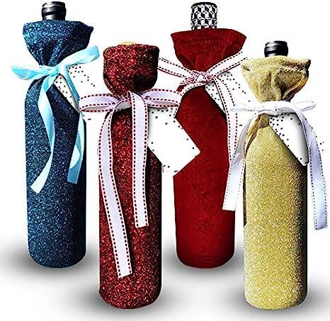 Wine Bottle Bag Eco Friendly Fabric Gift Wrap Spirits Gift Wrapping Reusable Burlap Gift Bag Burlap Wine Bottle Sack
