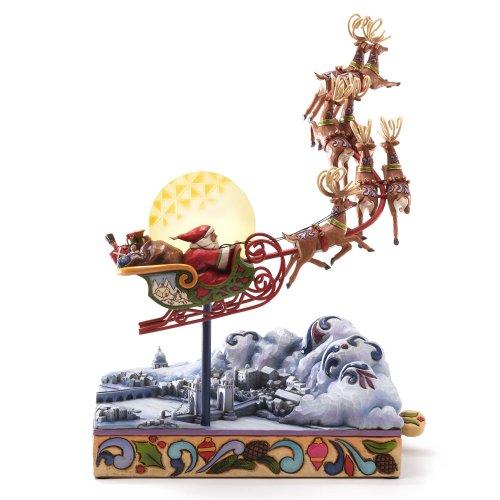(Enesco Jim Shore Heartwood Creek Santa's Sleigh Masterpiece Musical, 12-Inch)