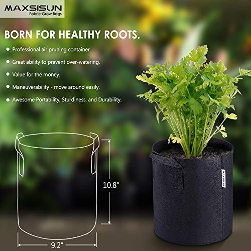 Amazon.com: MAXSISUN 5 bolsas de cultivo de plantas de 1/2/3 ...