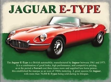 Rojo Jaguar E-Type, coche de motor del clásico británico 1828,8 cm