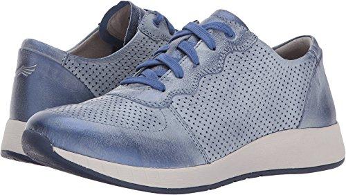 Dansko Women's Christina Sneaker, Blue Metallice Brush Off, 36 M EU (5.5-6 US)