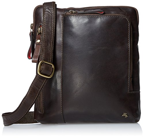 Visconti Buffalo Leather Messenger Bag Shoulder Crossbody Bag Handbag, Brown, One Size by Visconti
