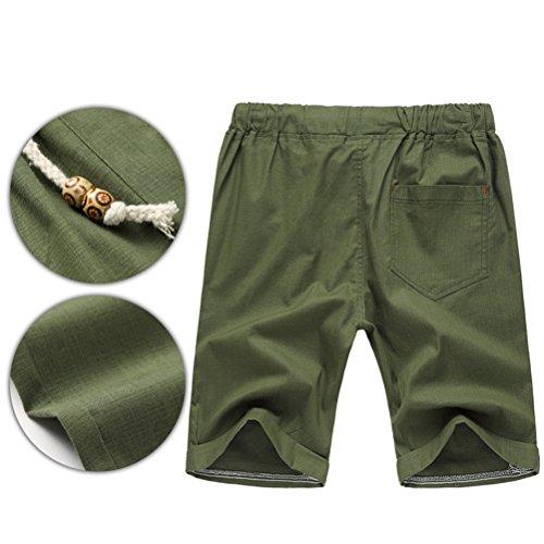 Zhhlinyuan Moda y casual Men's Fashion Summer Casual Shorts Pants Board Shorts Dark Green