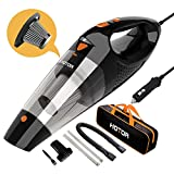 Car Vacuum, HOTOR Corded Car Vacuum Cleaner High Power for Quick Car Cleaning, DC 12V Portable Auto Vacuum Cleaner for Car Use Only - Orange Larger Image