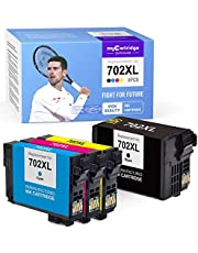 $32 » myCartridge SUPCOLOR Remanufactured Ink Cartridge Replacement for Epson 702 702XL T702 T702XL for Epson Workforce Pro WF-3720 WF-3730 WF-3733 (1 Black, 1 Cyan, 1 Magenta, 1 Yellow, 4 -Pack)
