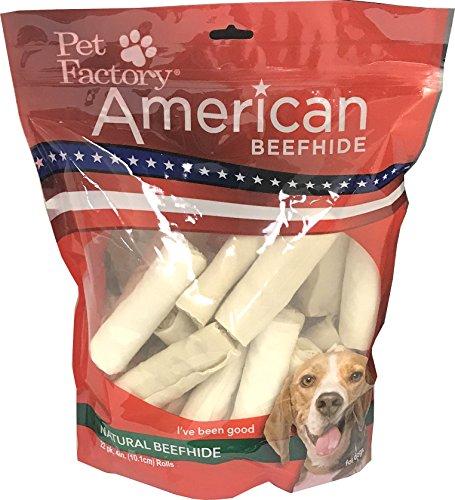 Pet Factory American Beefhide Chews 28217 Rawhide Natural Fl