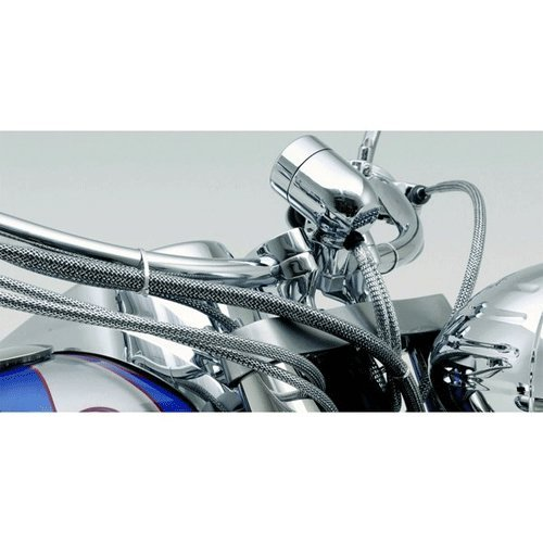 Baron BA-8200M Chrome Cable Hose and Wire Dress-Up Kit For Harley-Davidson ()