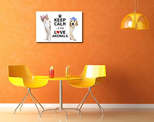 Keep Calm and Love Animals Wall Decor Stretched