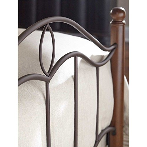 Fashion Bed Group Transitional Cassidy Mink Complete Bed, King, Dark Walnut