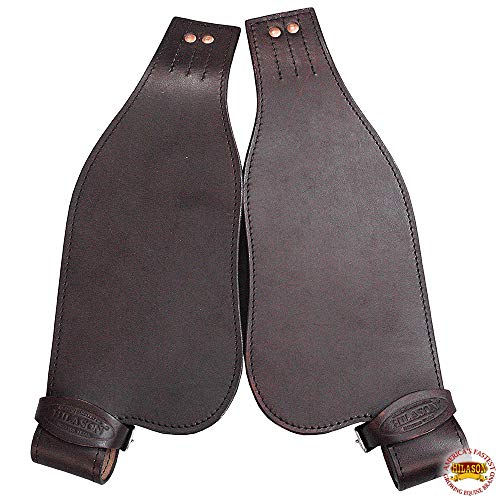 HILASON Leather Youth Saddle Replacement Fender Pair with Hobble Strap