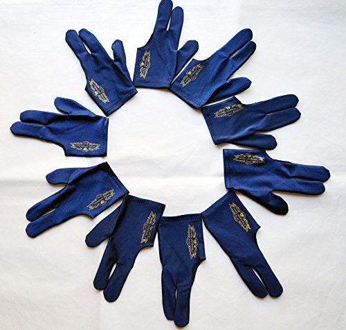 Gator by Champion Sport Co Champion Sport Dark Blue Left Hand Billiards Gloves for Pool Cues - Wear on The Left Hand, Buy Three GET ONE Free, 6 Pool Gloves Champion sport CO.LTD