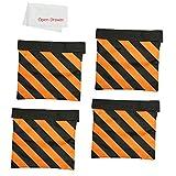 OPEN DRAWER Photographic Orange Heavy Duty Sandbag Light Stands balance Sand Bag FOR Photo Video Studio Stand, Boom Stand, Tripod C Stand(4 Packs Set)