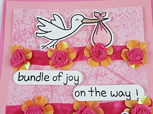 Baby-Girl-Announcement-Card-Bundle-of-Joy-on-the-Way-set-of-4