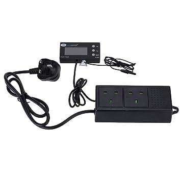 Anself Termostato Controlador de temperatura digital LCD Acuario automática enfriador y calentador intercambio para Fish Tank