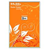 DAX 281136T U-Channel Poster Frame, Contemporary Clear Plastic Window, 24 x 36, Clear Border