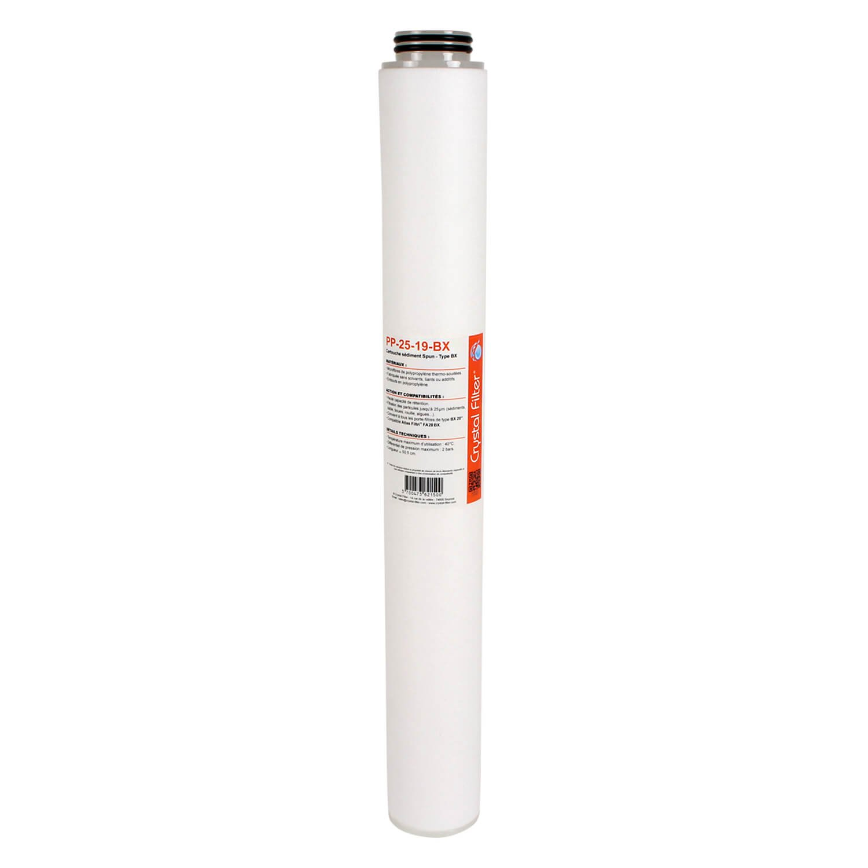 Cartouche PP-25-19-BX sé diment SPUN BX 20' - 25 µ m - compatible FA20BX - Crystal Filter®