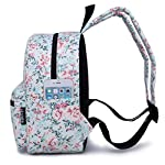 """Lightweight Travel Mini Backpack for Women and Teens (Beach White Small) 8 <p>MEDIUM size 15-inch backpack. Please note there are two sizes: small and medium. This medium-sized backpack is 15.5"""" tall x 11.5"""" wide x 6.3"""" deep. Binders, folders and laptop computers will fit. See pictures and description for reference and further details. POCKETS. Two side pockets for water bottles, sun-glasses, etc. Front zippered pocket for small items such as pens, phone, etc. Large main compartment with heavy-duty double zippers for big items such as laptop, binder, books, notebook, folder, and more. PERFECT for laptop. Convenient internal sleeve is ideal for a 14-inch laptop computer, tablet or iPad. Perfect fit for MacBook, MacBook Air or MacBook Pro 13-inch. Maximum laptop size is about 13-1/2"""" x 10"""" x 1"""" thick. DURABLE and PRACTICAL. Heavy-duty 600 denier oxford canvas exterior with padded back. 210 denier oxford interior lining. Adjustable foam-PADDED SHOULDER STRAPS fit all sizes from small teens to full-grown adults. OTHER USES: Lightweight carry on travel bag, ladies large backpack purse, cute preschool diaper bag, elementary school student bookbag, hiking, picnic etc.</p>"""