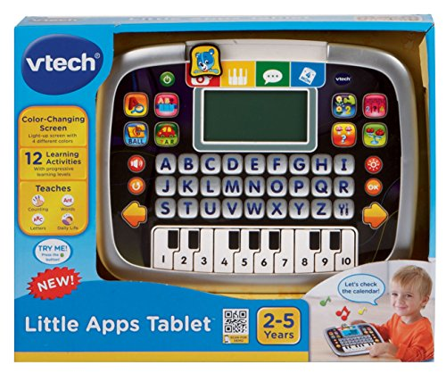 519saHrTCZL - VTech Little Apps Tablet, Black