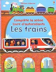 Les trains - Complète la scène livre d'autocollants