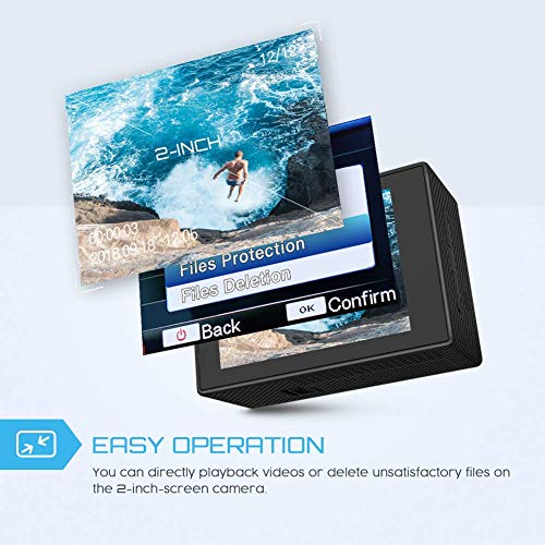 Crosstour 1080P 12MP WiFi Underwater Sports Ultra Wide-Angle with PCS Mounting Accessories