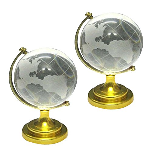 Divya Mantra Combo of Two Feng Shui Crystal Globes for Success (Best Mantra For Success In Studies)