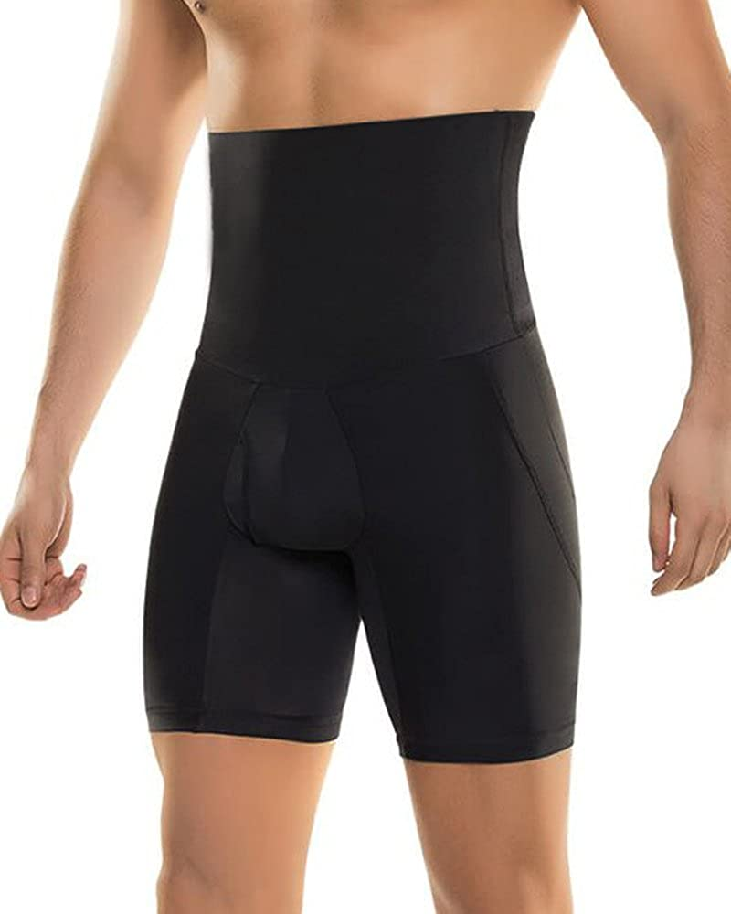 Sportmars Men's Body Shaper Tummy Control Slimming Hi-Waist Stretch Shapewear Shorts
