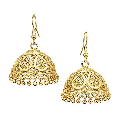 Bodha 18k Gold Plated Traditional Indian Jhumka Earrings (SJ_442) (Jhumka Earrings)
