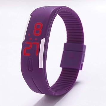 Zxzays Relojes LED de Silicona para niños Relojes Pulsera Fecha Reloj Deportivo Digital para Estudiante Reloj
