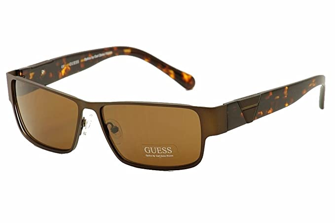 25fd3f74f8 GUESS Sunglasses GU 6766 Brushed Brown 60MM at Amazon Men s Clothing ...