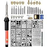 Wood Burning Kit Woodburning Tool with Soldering Iron Intlmate 54 PCS Woodburner Temperature Adjustable with...
