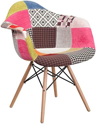 Flash Furniture Alonza Series Milan Patchwork Fabric Chair