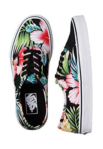 VANS AUTHENTIC VN-0 ZUKFFZ AWAIIANAS FLORAL BLACK sneakers unisex shoes-34,5