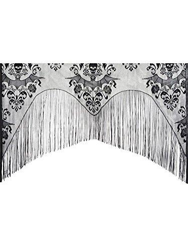 Morris Costumes Lace Decor Halloween Damask Curtain