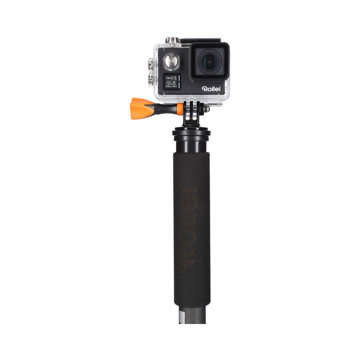 cam/éras d/'action Fonction Selfie Stick,incl Rollei City Traveler Mono smartphones support smartphone et adaptateur actioncam  Titane Monopied ultra l/éger en carbone pour les appareils DSLM