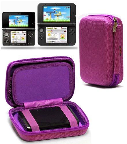 NAVITECH - Funda Rígida Color Morado Para Viajes Para Nintendo 3DS XL & 3DS
