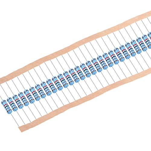 uxcell Metal Film Resistors 18k Ohm 1W 1% Tolerances 5 Color Bands Pack of -