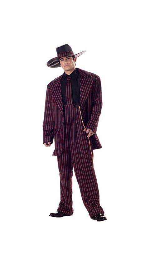 1940s Men's Costumes: WW2, Sailor, Zoot Suits, Gangsters, Detective MenS Zoot Suit Retro Holiday Party Costume $59.88 AT vintagedancer.com